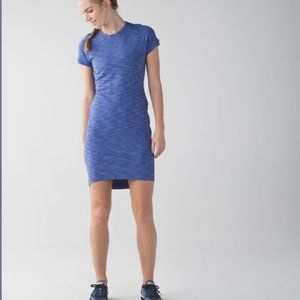 Lululemon & Go Where Dress in Heathered Sapphire